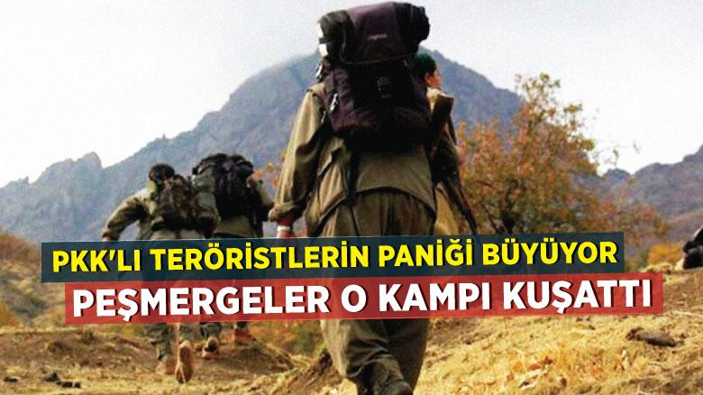 PKK'lı teröristlerin paniği büyüyor: Peşmergeler o kampı kuşattı