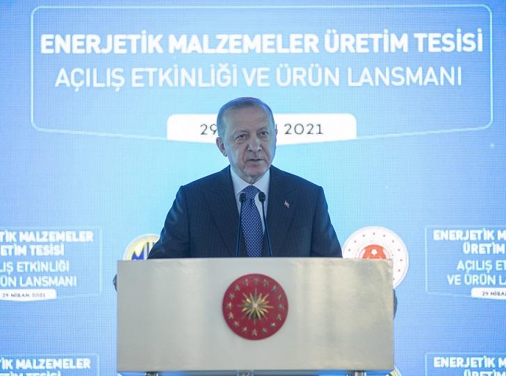 Cumhurbaşkanı Erdoğan, MKEK Enerjitik Malzemeler Üretim Tesisi Açılışında konuştu