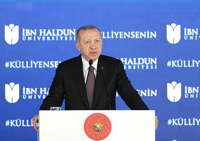Başkan Erdoğan'dan İbn Haldun Üniversitesi Külliyesi Açılış Töreni'nde dikkat çeken açıklama