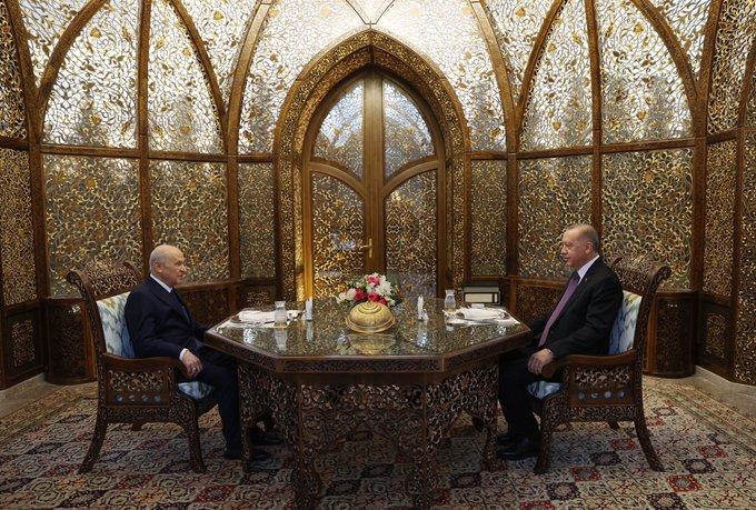 Cumhurbaşkanı Erdoğan, MHP Genel Başkanı Bahçeli ile iftar yaptı