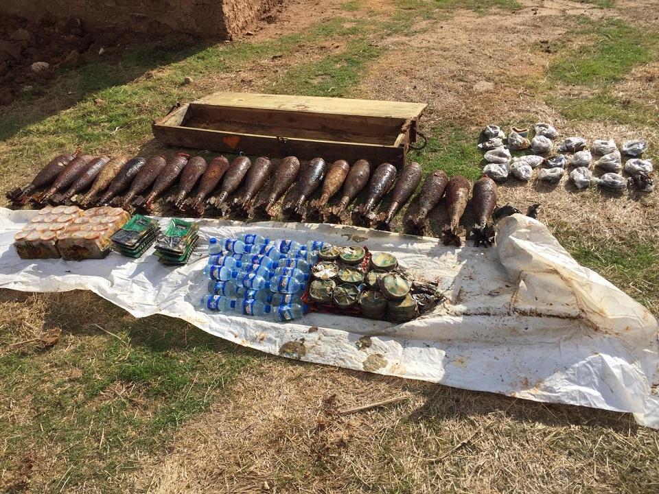 Tel Abyad'da 262 kilo 500 gram patlayıcı ele geçirildi