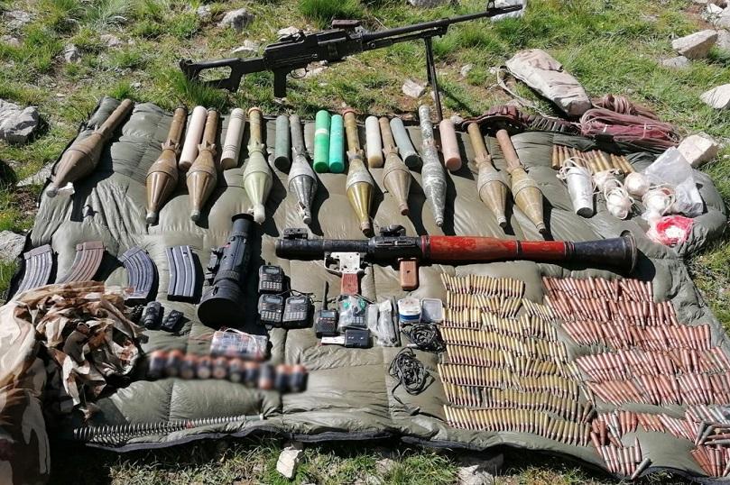 Van'da terör örgütü PKK'ya yönelik operasyonda silah ve uyuşturucu ele geçirildi