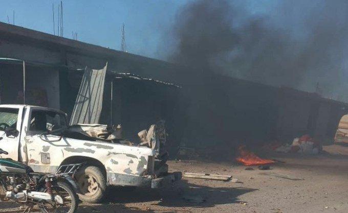 Suriye'nin kuzeyindeki Tel Abyad ilçesinde bombalı terör saldırısı: 4 yaralı