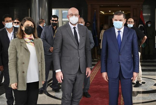 AB Konseyi Başkanı Michel'den Libya'ya sürpriz ziyaret