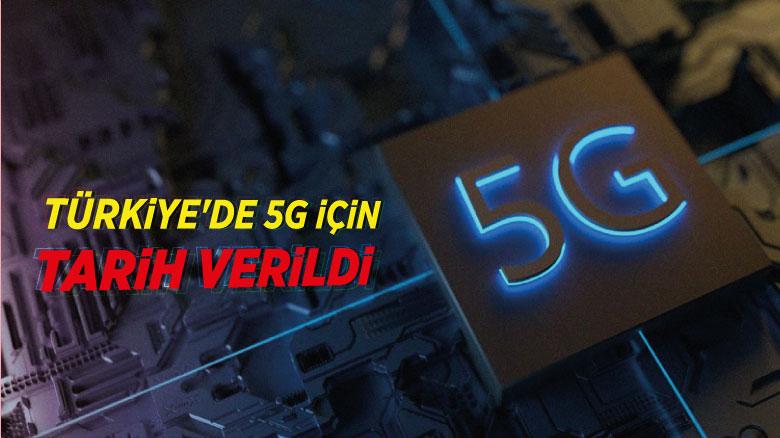 Türkiye'de 5G için tarih verildi
