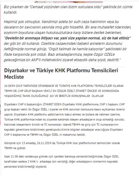 khkliplatformu.org söz konusu görüşmeyi, kendi sayfasından şu şekilde duyurdu: