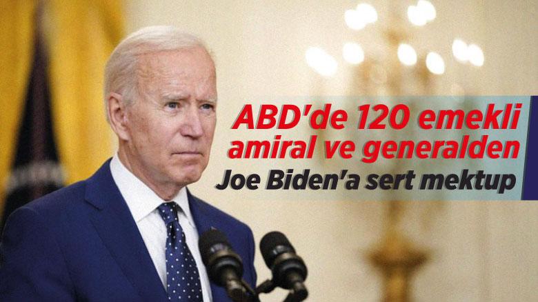 ABD'de 120 emekli amiral ve generalden Joe Biden'a sert mektup