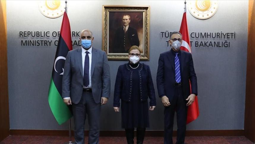 Bakan Pekcan, Libyalı mevkidaşlarıyla görüştü: Türkiye sorumluluk almaya hazır