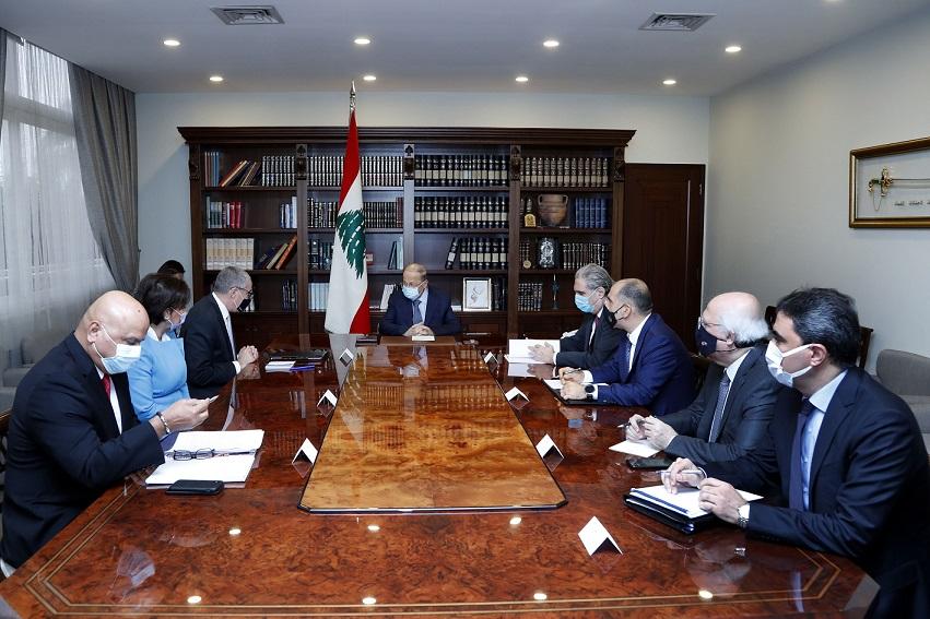 Lübnan Cumhurbaşkanı, Beyrut'un yeniden imarını hedefleyen uluslararası eylem planından memnun