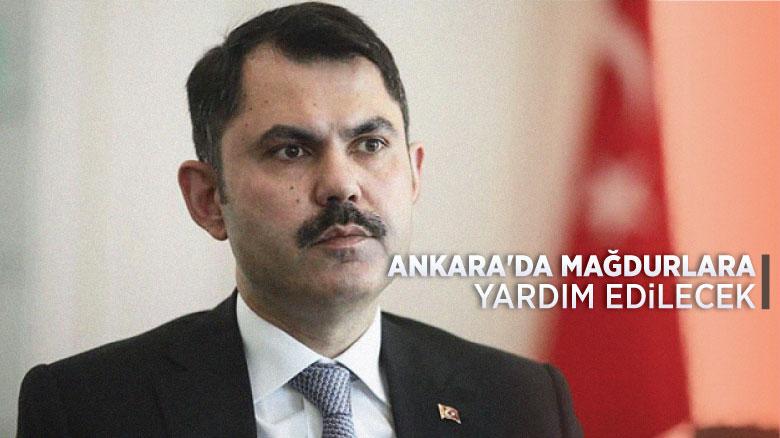 Ankara'da mağdurlara yardım edilecek
