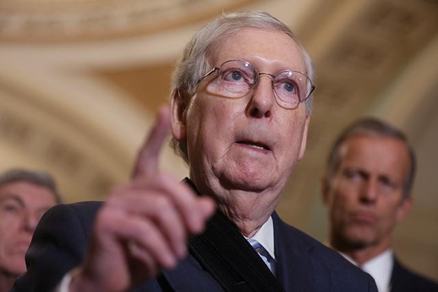 """Cumhuriyetçilerin Senato lideri McConnell'dan Trump'a """"Kongre baskını"""" suçlaması"""