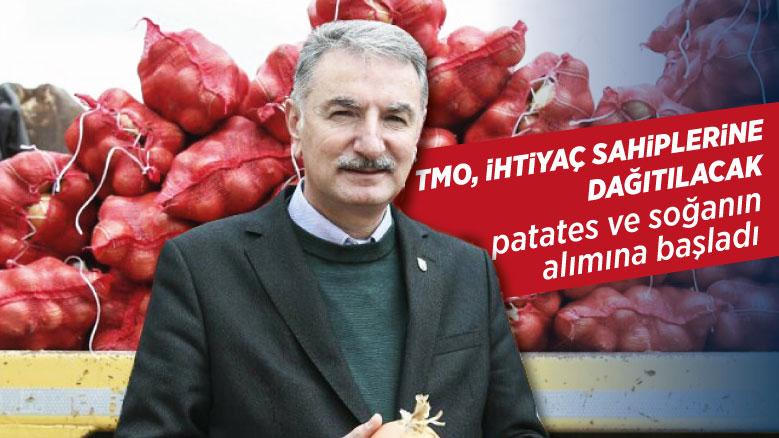 TMO, ihtiyaç sahiplerine dağıtılacak patates ve soğanın alımına başladı