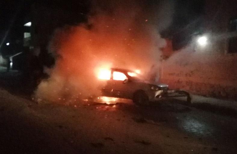 Suriye'nin Cerablus ilçesinde eş zamanlı bombalı terör saldırılarında 2 kişi yaralandı