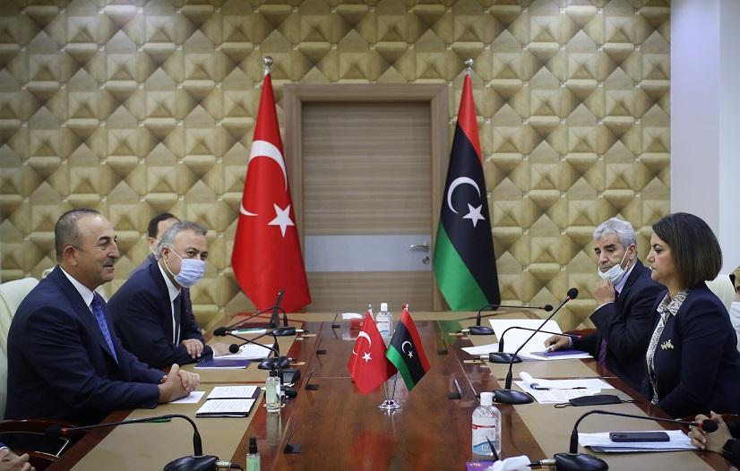 Dışişleri Bakanı Çavuşoğlu, Libyalı mevkidaşı Menguş'la ortak basın toplantısında konuştu: