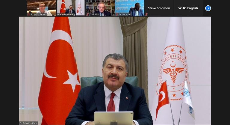 Sağlık Bakanı Koca, Dünya Sağlık Örgütü Medya Brifingi'ne katıldı