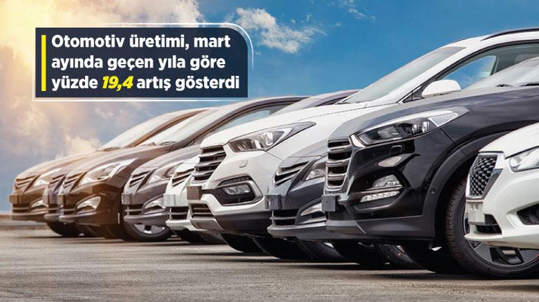 Otomotiv üretimi yüzde 19,4 artış gösterdi