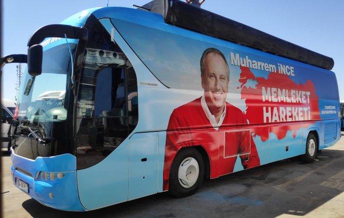 """Muharrem İnce'nin """"Bin Günde Memleket Hareketi"""" için otobüs hazırlandı"""