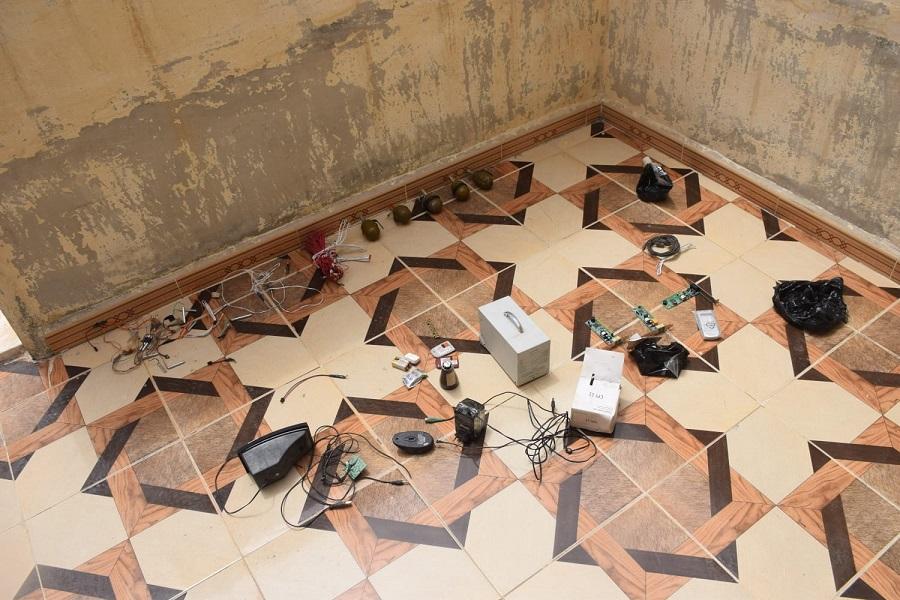 Tel Abyad'da teröristlere ait patlayıcı malzemeler bulundu