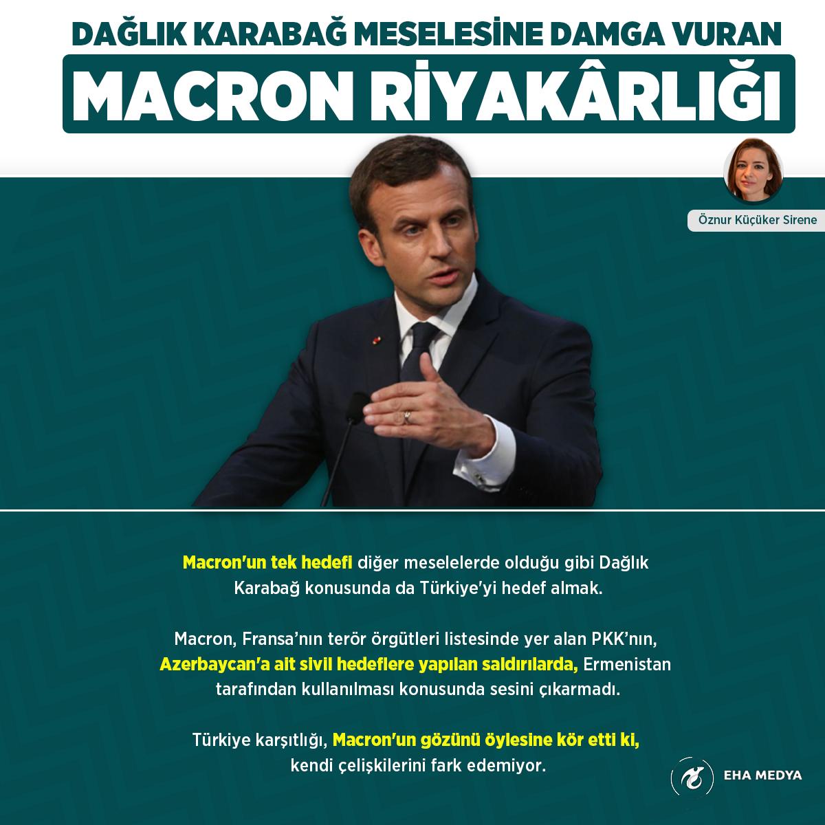 Dağlık Karabağ meselesine damga vuran Macron riyakarlığı