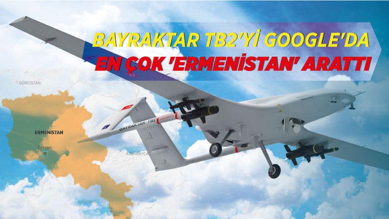 Bayraktar TB2'yi Google'da en çok 'Ermenistan' arattı