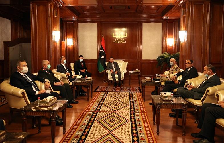Milli Savunma Bakanı Akar, Libya Başbakanı Dibeybe ile görüştü