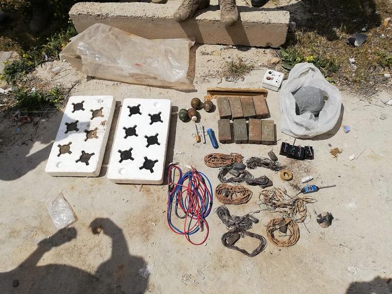 Tel Abyad'da ele geçirilen çok sayıda patlayıcı imha edildi