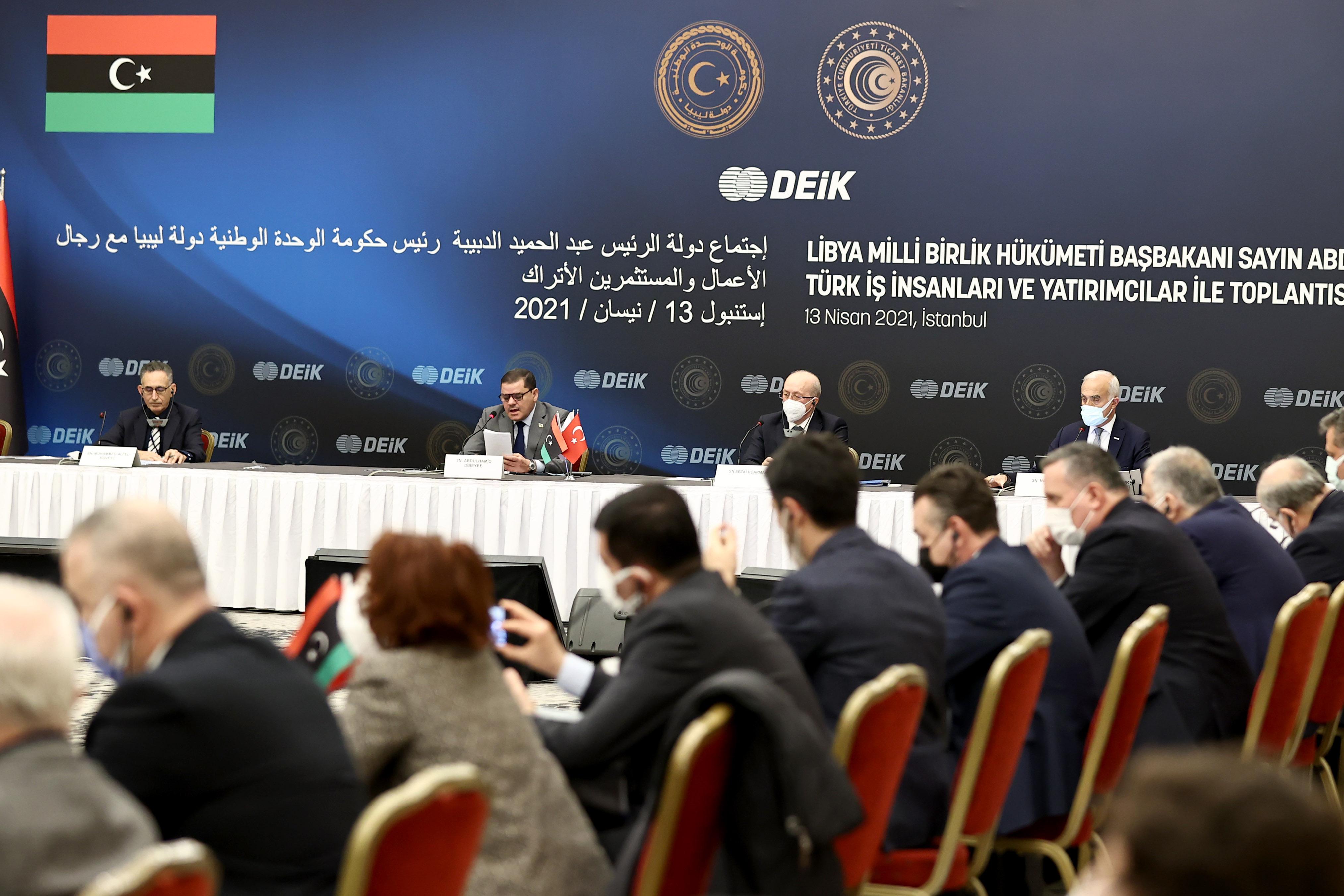 Libya Başbakanı Dibeybe, Türk iş insanlarıyla İstanbul'da yuvarlak masa toplantısında buluştu