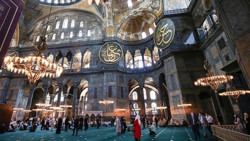 Ayasofya'nın cami olarak yeniden açılışı yüzyılın en önemli olaylarından biri