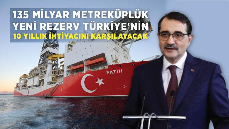 135 milyar metreküplük yeni rezerv Türkiye'nin 10 yıllık ihtiyacını karşılayacak