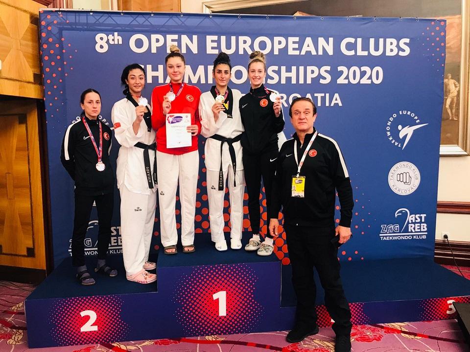Kadın Tekvando Milli Takımı'ndan Avrupa Kulüpler Şampiyonası'nda 5 madalya