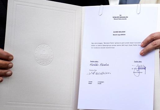 Memleket Partisinin kuruluş dilekçesi İçişleri Bakanlığına verildi