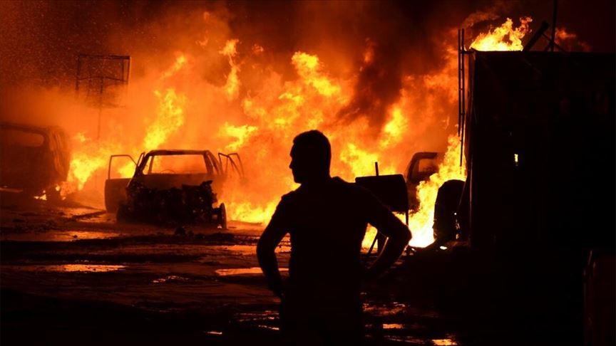Bağdat'ta Haşdi Şabi ve polis güçlerinin bulunduğu askeri üste patlama