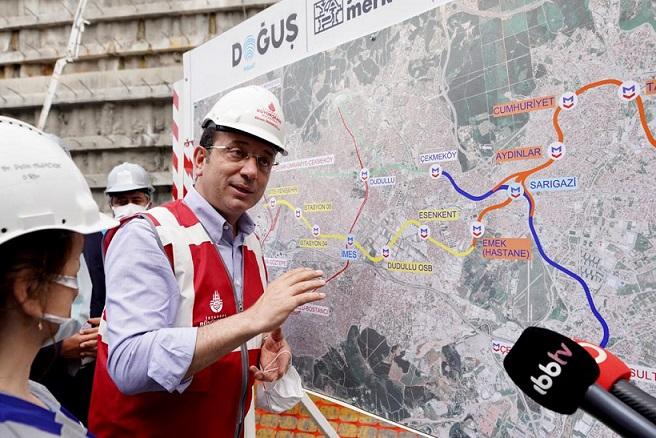 İBB Başkanı İmamoğlu'ndan Yenidoğan-Cumhuriyet-Emek metro hattı açıklaması