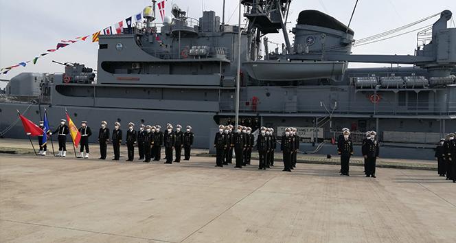 NATO Daimi Mayın Karşı Tedbirleri Deniz Görev Grubu-2'nin komutası Türk Deniz Kuvvetlerine geçti