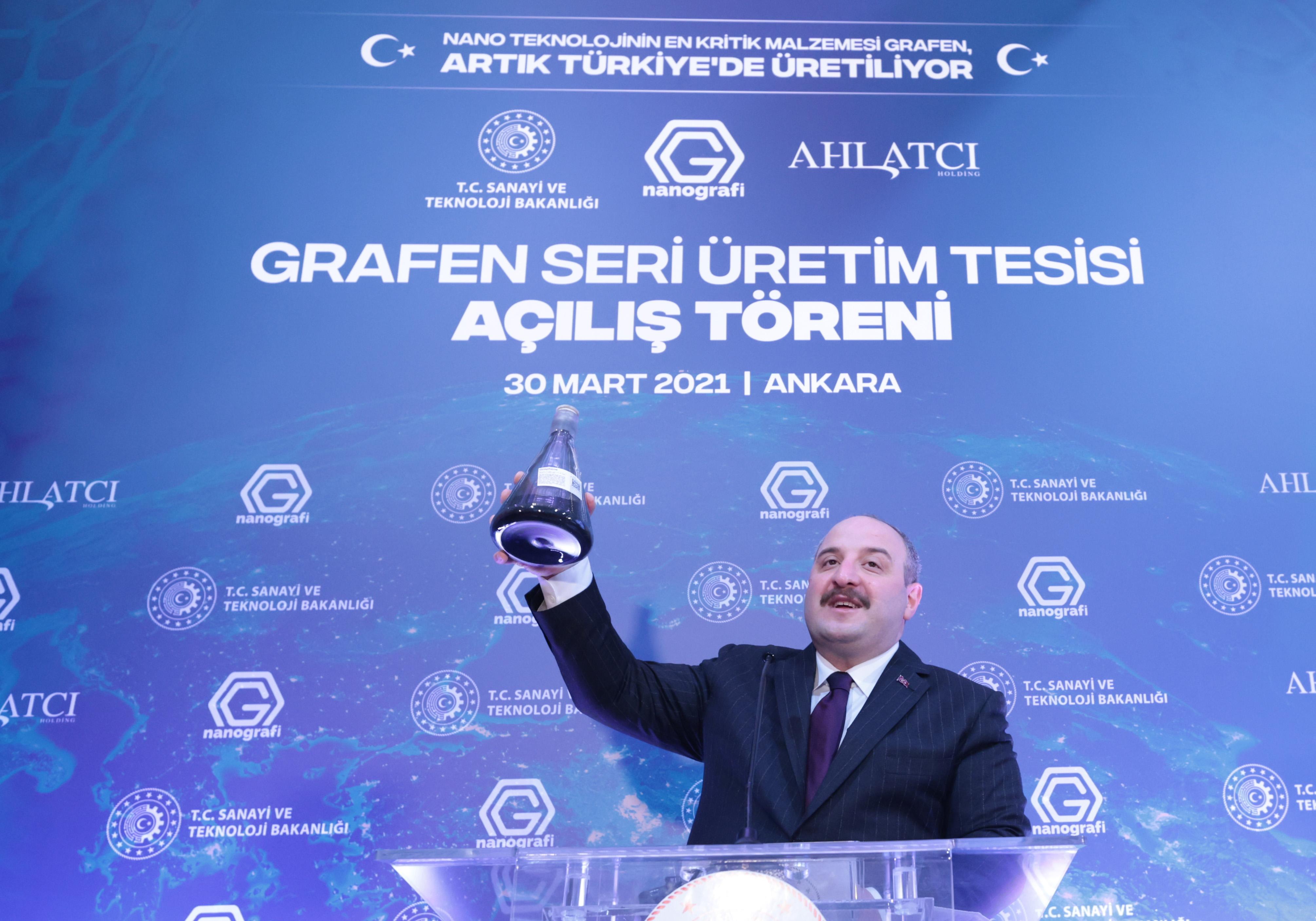 Türkiye Grafeni seri üretebilen 10 ülkeden biri konumuna geliyor