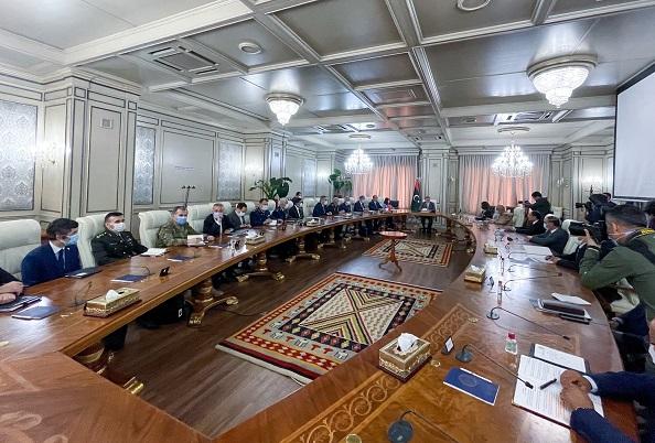 Bakanlar Çavuşoğlu ve Akar, Libya Başbakanı Dibeybe ile heyetler arası görüşme gerçekleştirdi