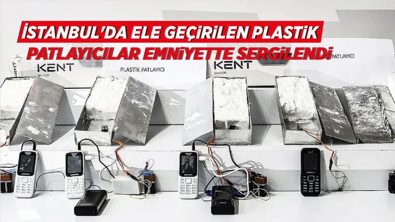 İstanbul'da ele geçirilen plastik patlayıcılar emniyette sergilendi