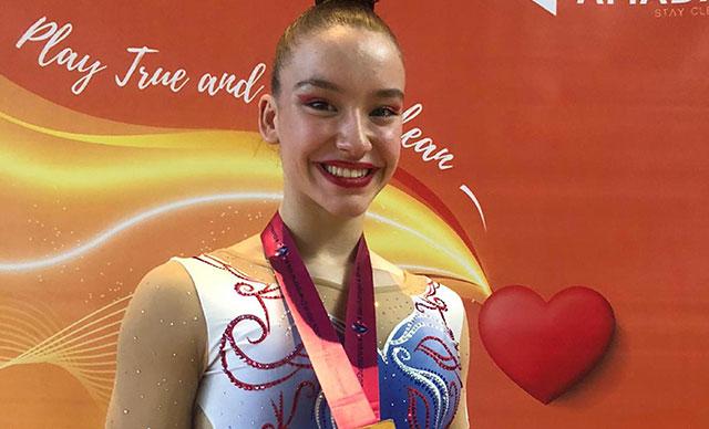 Dünya şampiyonu cimnastikçi Ayşe Begüm Onbaşı'ya bir onur daha