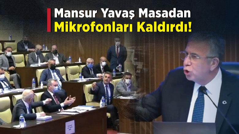 Mansur Yavaş masadan mikrofonları kaldırdı!