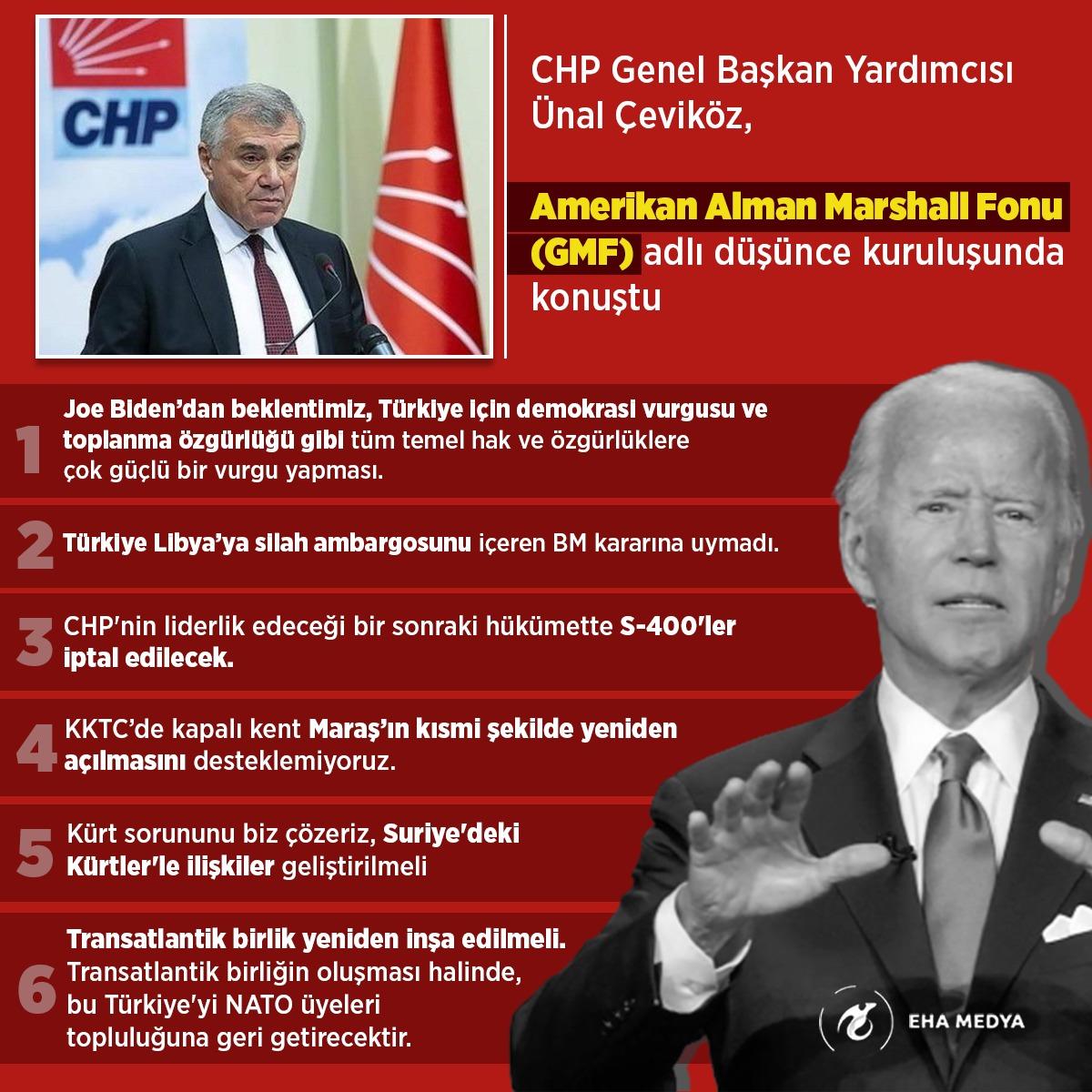 CHP'li Çeviköz 'Biden yönetiminden beklentimiz Türkiye için demokrasi vurgusu yapması'