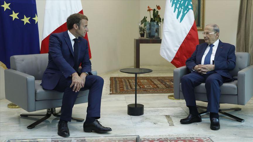 Lübnan Cumhurbaşkanı Avn, Macron'dan Beyrut'taki patlama anının uydu görüntülerini istedi