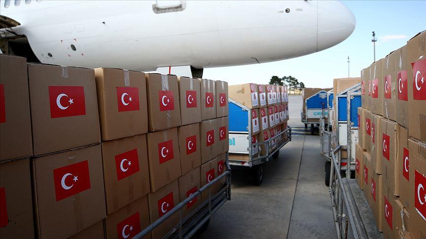 Türkiye'den 4 ülkeye Kovid-19 sürecinde tıbbi malzeme yardımı