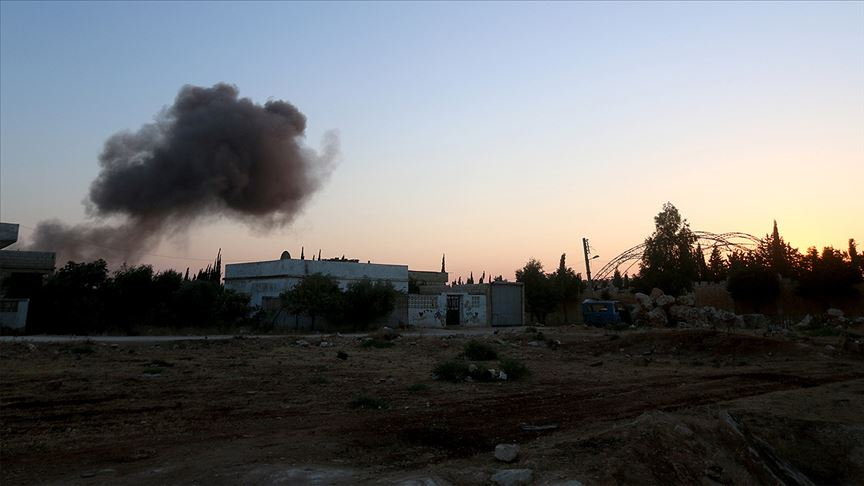 Esed rejimi ve İran destekli terörist gruplardan İdlib hattına 'askeri yığınak'